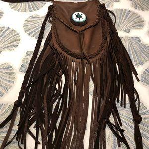 Handbags - Navaho Artisan Handbag Fringe Deerskin Crossbody
